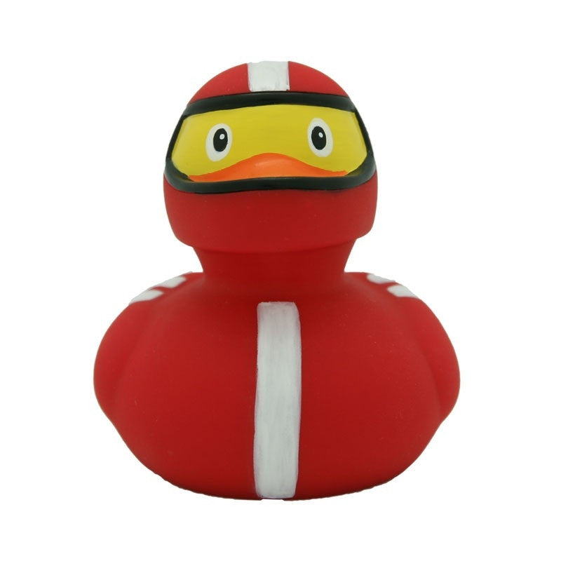 Racer rubber duck red