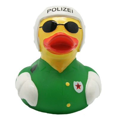 Motorcycle police rubber duck