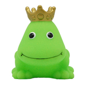 Green frog rubber duck with crown