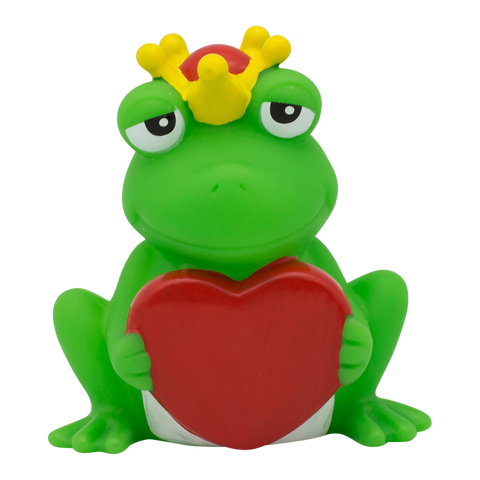 Frog Rubber Duck with Greeting Heart By Lilalu