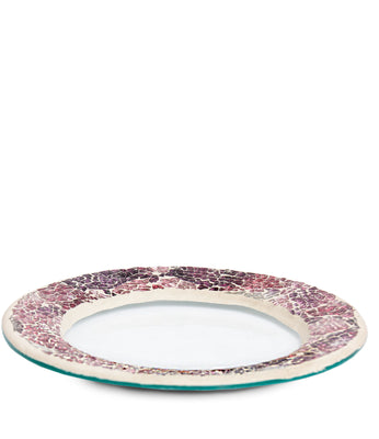 Mulberry Crackle Jar Base Plate - From Heart and Home