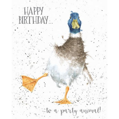 Party Animal Greetings Card - Wrendale Designs