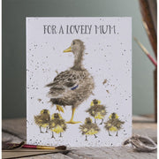 Lovely Mum Greetings Card - Wrendale Designs