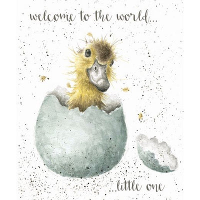 Welcome to the World ... Little One Greetings Card - Wrendale Designs