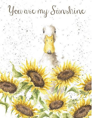 Sunshine Greetings Card - Wrendale Designs