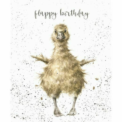 Flappy Birthday Greetings Card - Wrendale Designs