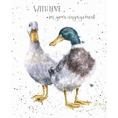 With Love on your Engagement Greetings Card - Wrendale Designs