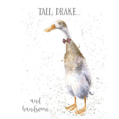 Tall Drake and Handsome Greetings Card - Wrendale Designs