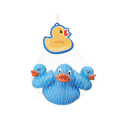 Quackers Rubber Ducks Pk/3 Light Blue By Opal