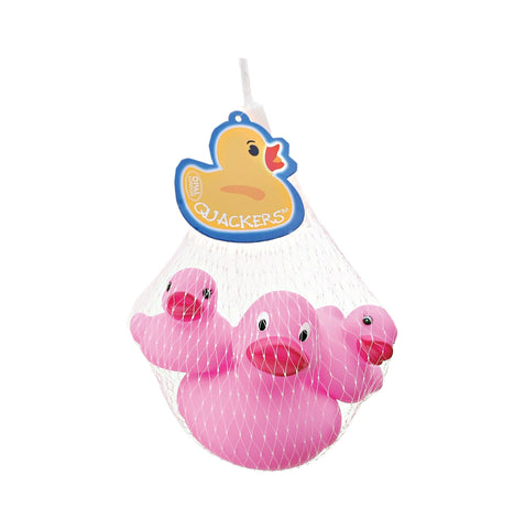 Quackers Rubber Ducks Pk/3 Light Pink  By Opal