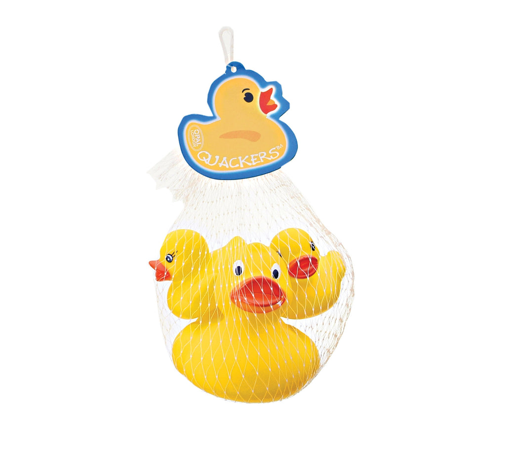 Quackers Rubber Ducks Pk/3 Yellow By Opal