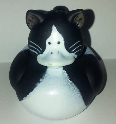 Cat Duck - Black and White by Rubber Duckies