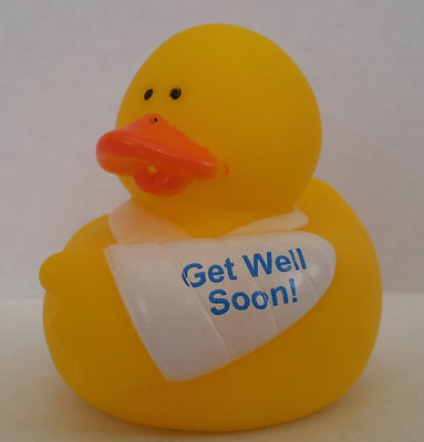 Get Well Soon Duck - Arm In Sling by Rubber Duckies