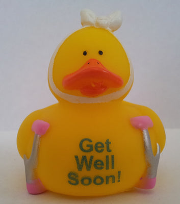 Get Well Soon Duck - Crutches by Rubber Duckies