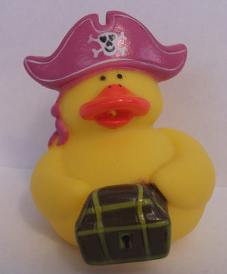 Pirate Duck - Pink Hat with Treasure by Rubber Duckies
