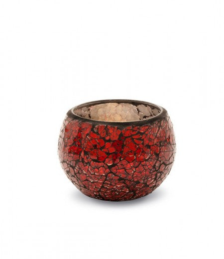 Winter Red Mosaic Tealight Holder - From Heart and Home