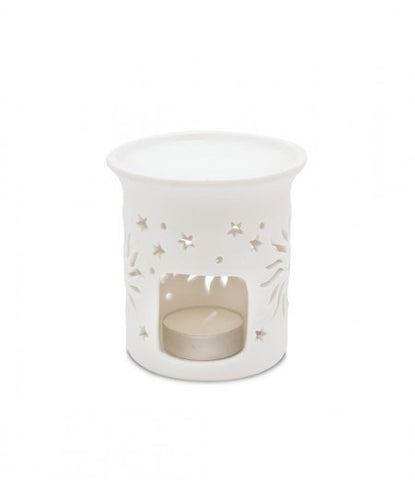 Ceramic Pillar Warmer / Burner (Sunburst) - From Heart and Home