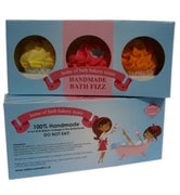 Small Cupcake Bath Fizz Gift Set Of Three In A Gift Box - Glamorous