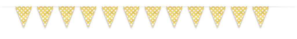 1  Flag Banner 12 Ft. - Sunflower Yellow Dots
