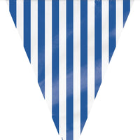 1  Flag Banner 12 Ft. - Royal Blue Stripes