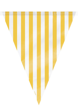 1  Flag Banner 12 Ft - Yellow Stripes