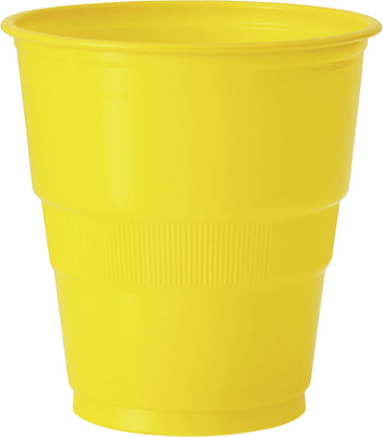 12  Sunflower Yellow 9 Oz. Plastic Cups