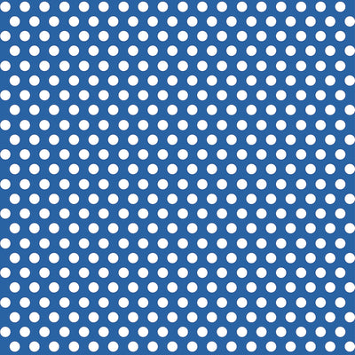 1  Gift Wrap Roll - Royal Blue Dots