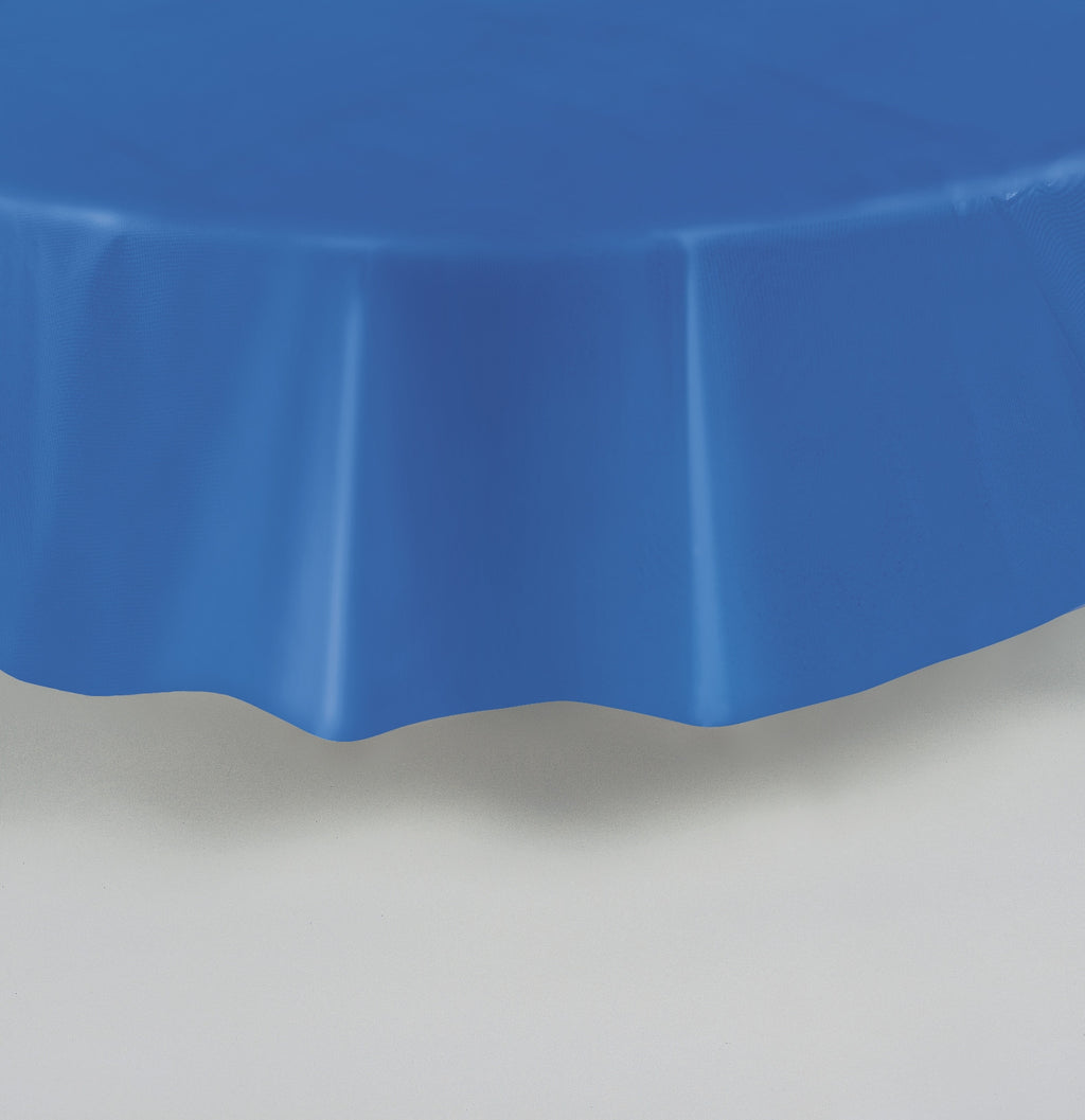 1  Royal Blue Round Tablecover