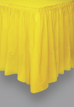1  Sunflower Yellow Plastic Tableskirt