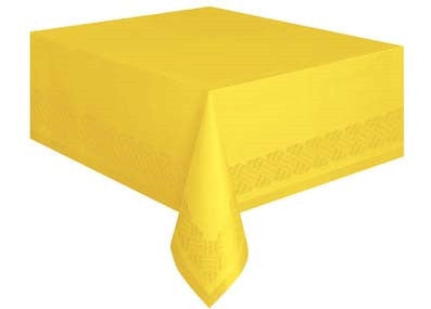 1  Sunflower Yellow Paper-Poly Tablecover