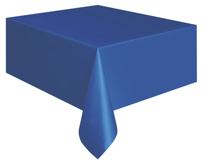 1  Royal Blue Plastic Tablecover