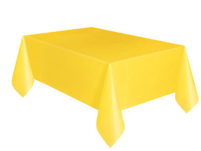 1  Sunflower Yellow Plastic Tablecover