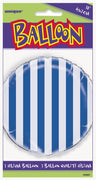 "1  18"" Foil Balloon  Packaged - Royal Blue Stripes"