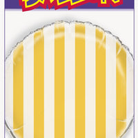 "1  18"" Foil Balloon  Packaged - Sunflower Yellow Stripes"