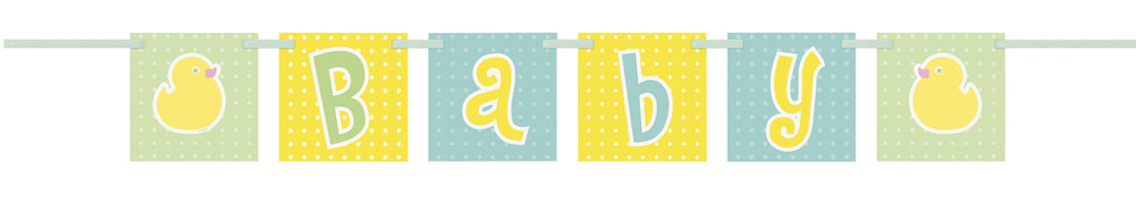 Polka Dots Baby Shower Block Banner