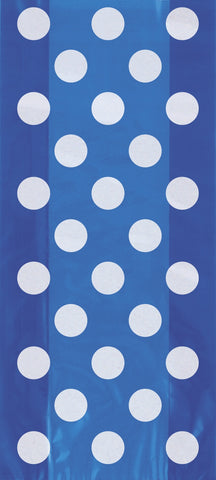 20  Cello Bags - Royal Blue Dots