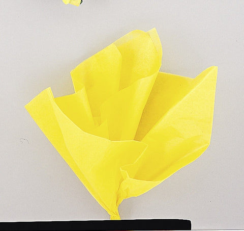 10  Tissue Sheets - Yellow