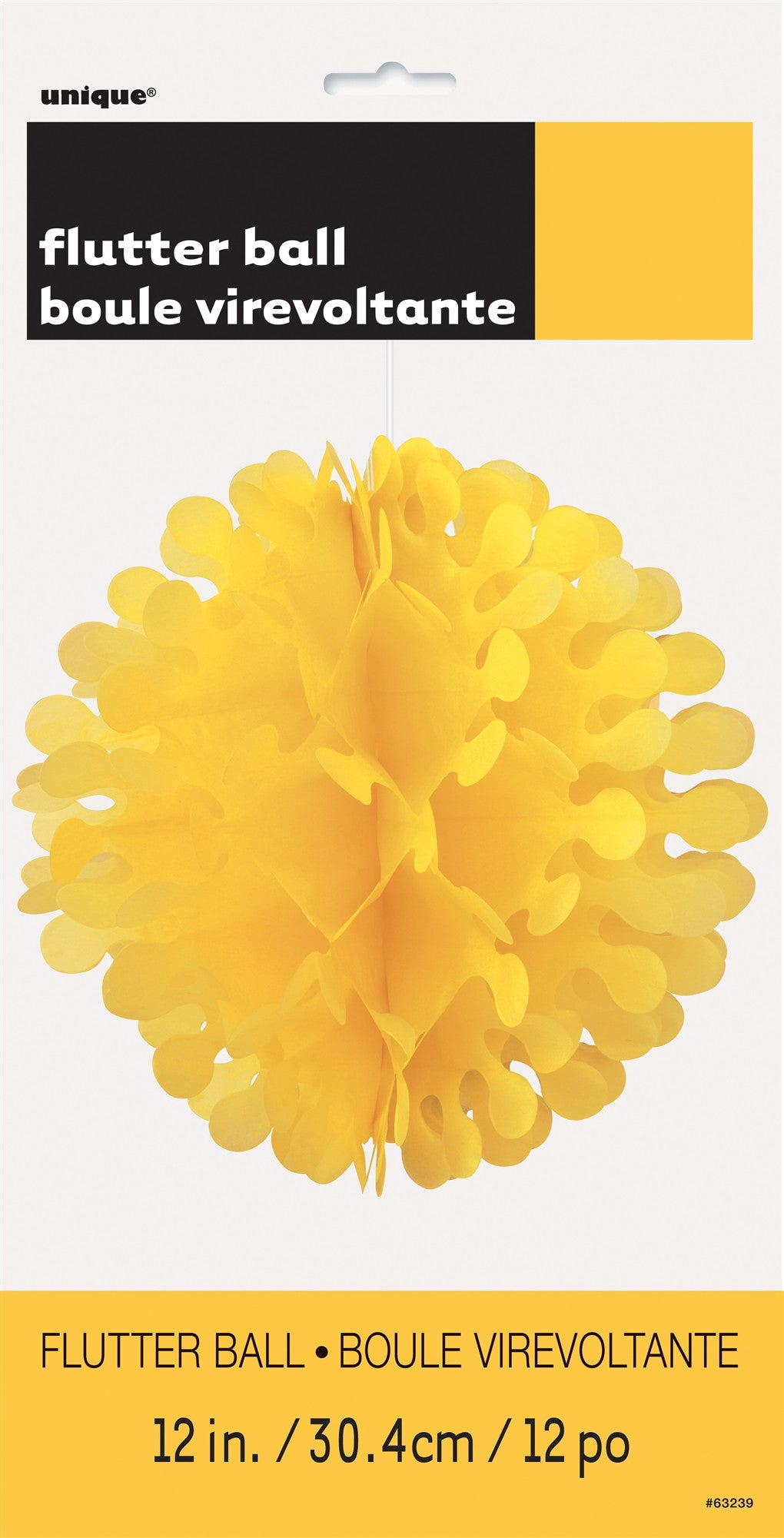 "Flutter Ball 12"" - Sunflower Yellow"