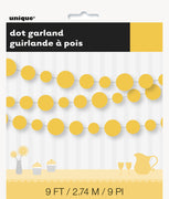1  Sunflower Yellow Dots Paper Garland