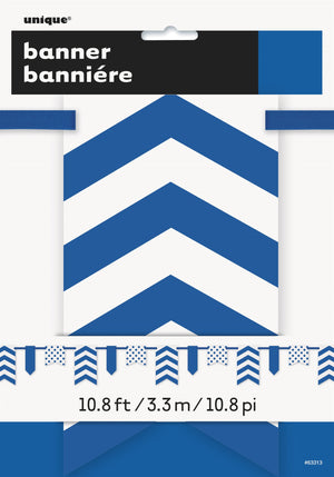 1  Royal Blue Paper Pennant Banner