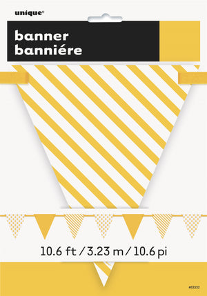 1  Sunflower Yellow Dots & Stripes Flag Banner