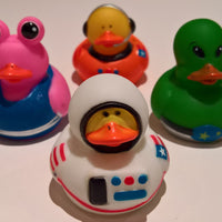 Astronaut/Space Alien Rubber Duckies - Pack of 4 Ducks