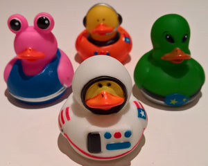 Astronaut/Space Alien Rubber Duckies - Pack of 24 Ducks