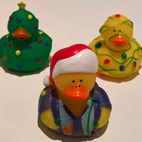 Christmas Lights Rubber Duckies - Pack of 24 Ducks