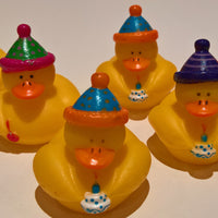 Happy Birthday Rubber Duckies - Pack of 6 Ducks