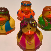 Hippie Rubber Duckies - Pack of 24 Ducks