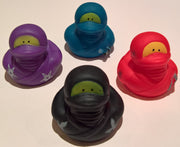 Ninja Rubber Duckies - Pack of 4 Ducks