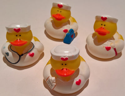 Nurse Rubber Duckies - Pack of 24 Ducks