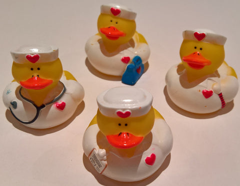 Nurse Rubber Duckies - Pack of 12 Ducks