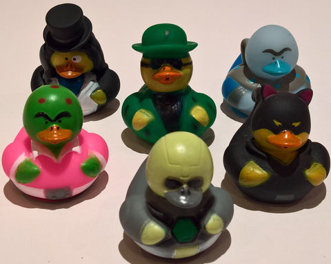 Super Villain Rubber Duckies - Pack of 6 Ducks
